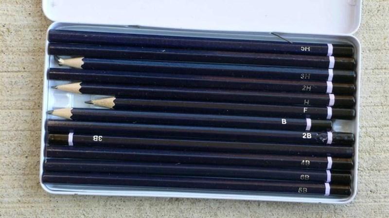 uncomfortable pic - Pen - 3H 2H H B 2B AB 5B