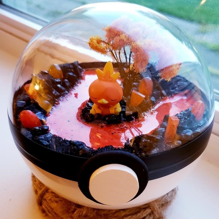 james croft pokemon terrariums - Orange