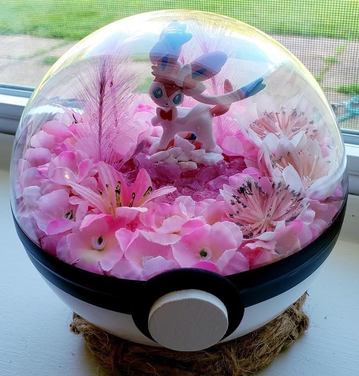 james croft pokemon terrariums - Pink