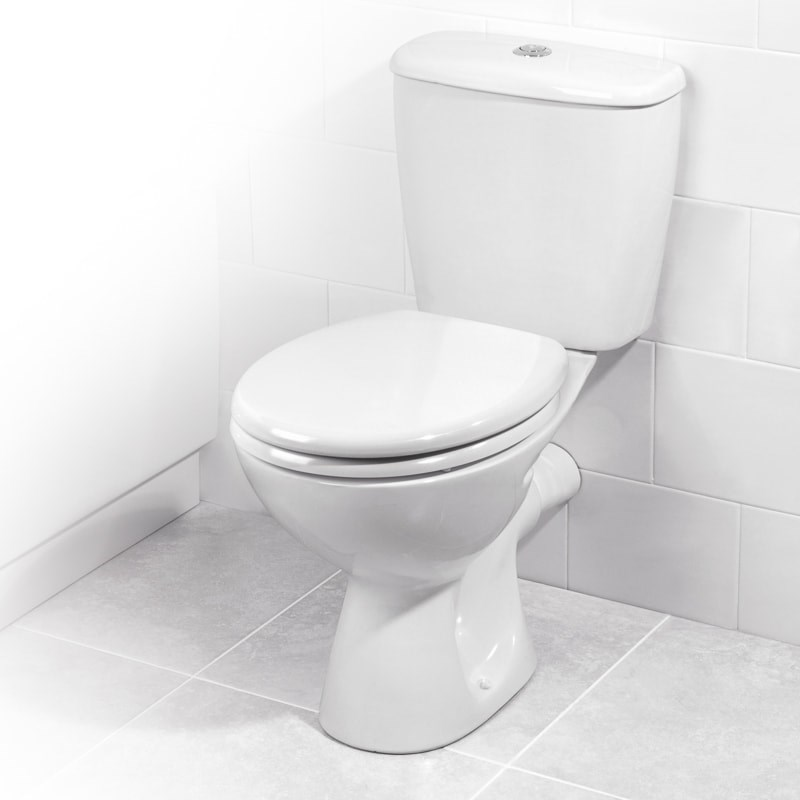 picture of white toilet in white bathroom