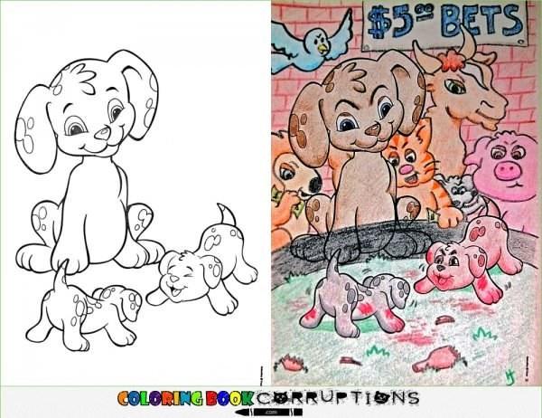 Cartoon - $5BETS GOLORING BOOKCERRUPTIONS