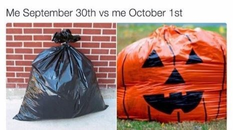 Pumpkin - Me September 30th vs me October 1st
