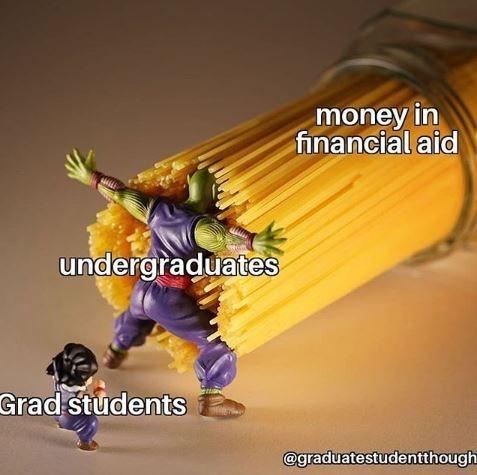 Action figure - money in financial aid undergraduates Grad students @graduatestudentthough