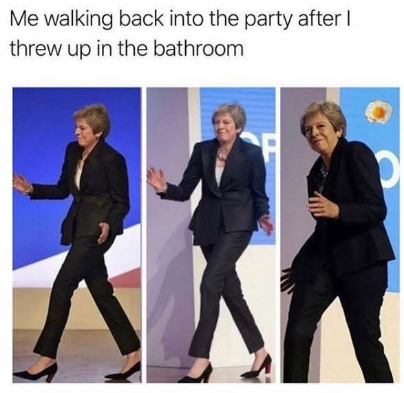 Suit - Me walking back into the party after l threw up in the bathroom