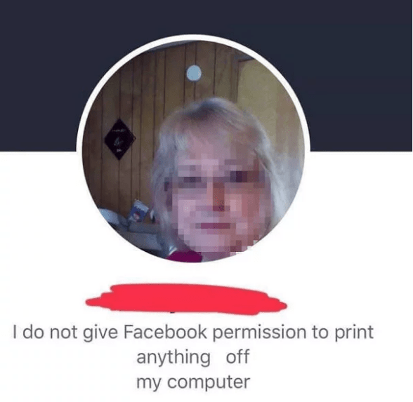 old people facebook - Face - I do not give Facebook permission to print anything off my computer