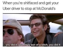 Jeff Goldblum - Eyewear - When you're shitfaced and get your Uber driver to stop at McDonald's you did it. you crazy son of a bitch, you did it