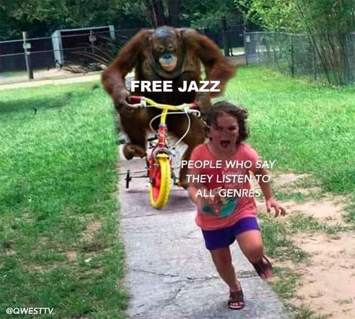 Orangutan - FREE JAZZ PEOPLE WHO SAY THEY LISTEN TO ALL GENRES @QWESTTV