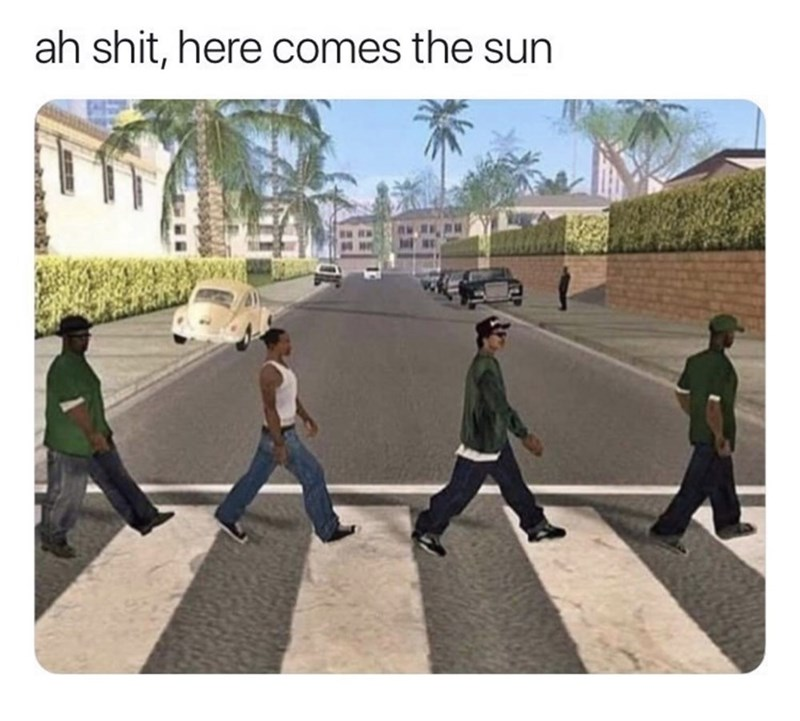 Pedestrian - ah shit, here comes the sun