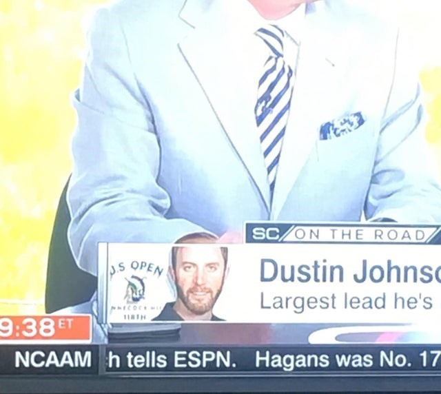 Font - SC/ON THE ROAD Dustin Johnsc Largest lead he's S OPEN ICOC 118H 9:38 ET NCAAM h tells ESPN. Hagans was No. 17