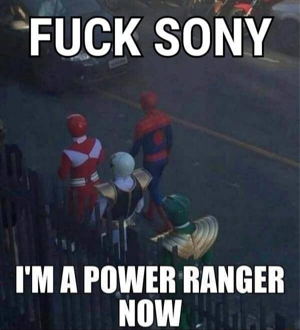 Photo caption - FUCK SONY I'MA POWER RANGER NOW