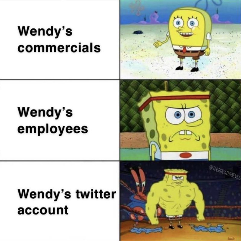Cartoon - Wendy's commercials Wendy's employees @THEBREADTHEVES Wendy's twitter account