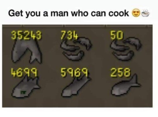 Text - Get you a man who can cook 734 35243 50 4699 258 5969