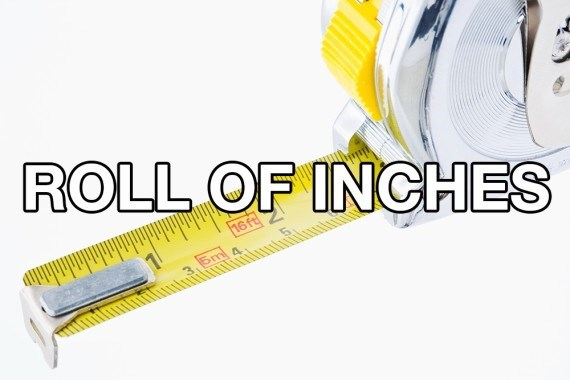 Yellow - ROLL OF INCHES 16 ft 5m