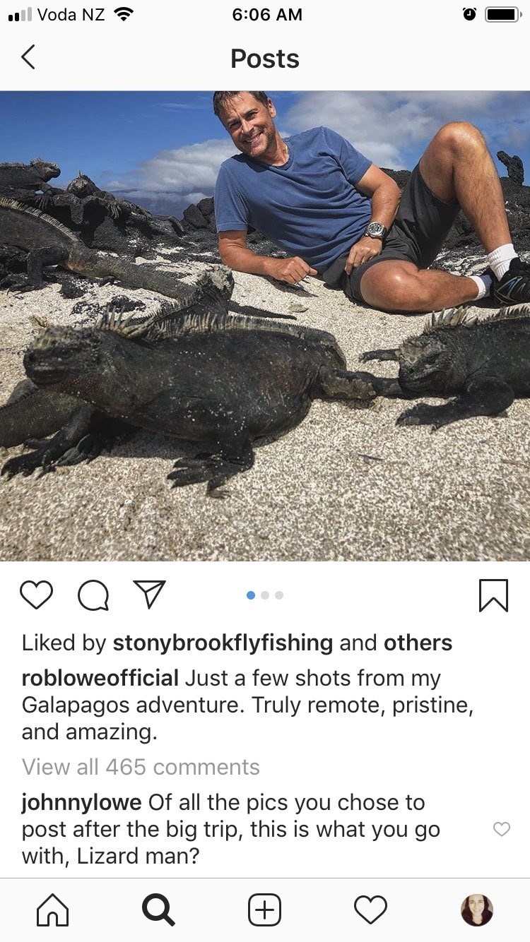 Adaptation - l Voda NZ 6:06 AM Posts Liked by stonybrookflyfishing and others robloweofficial Just a few shots from my Galapagos adventure. Truly remote, pristine, and amazing. View all 465 comments johnnylowe Of all the pics you chose to post after the big trip, this is what you go with, Lizard man? +)