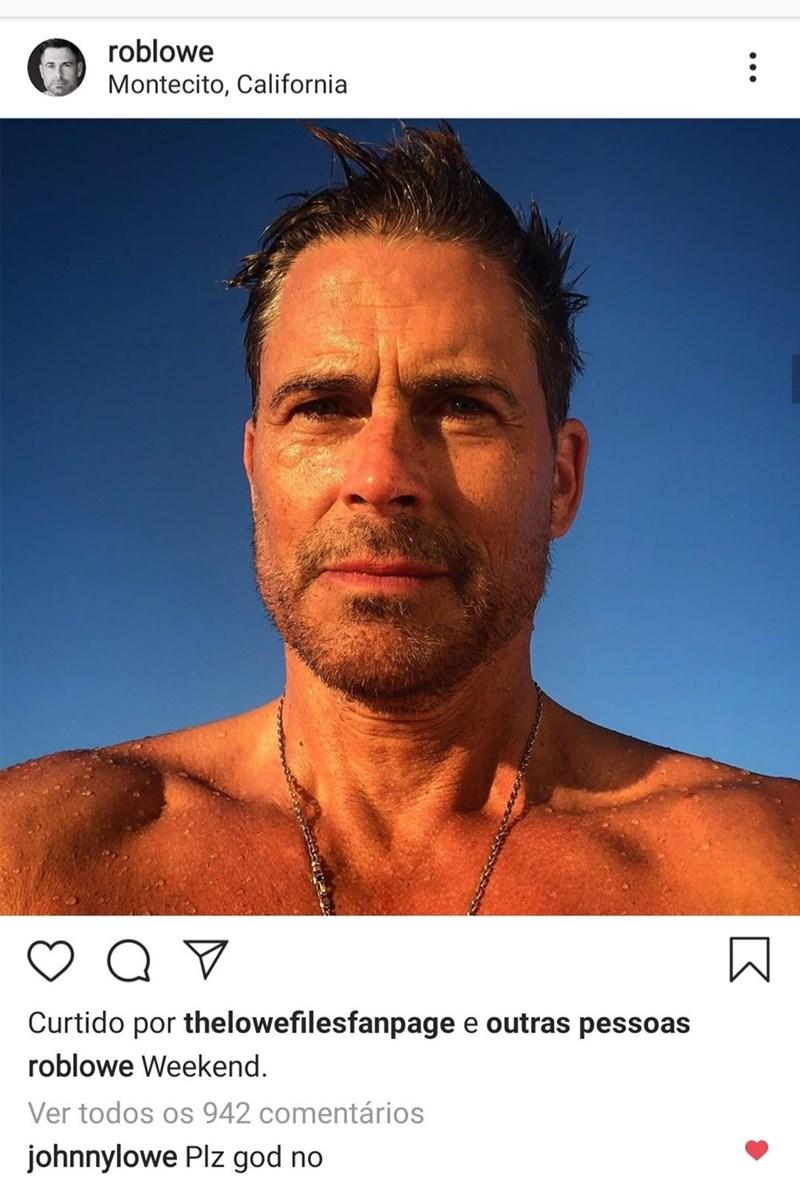 Rob Lowe - Face - roblowe Montecito, California Curtido por thelowefilesfanpage e outras pessoas roblowe Weekend. Ver todos os 942 comentários johnnylowe Plz god no