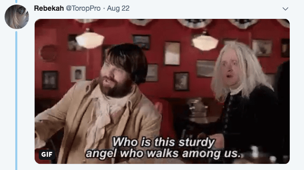 Photograph - Rebekah @ToropPro Aug 22 Who is this sturdy angel who walks among us. GIF