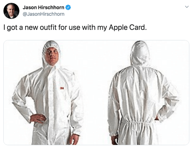 Clothing - Jason Hirschhorn @JasonHirschhorn got a new outfit for use with my Apple Card.