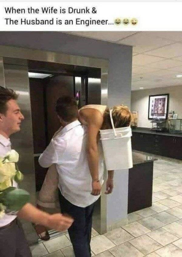 Shoulder - When the Wife is Drunk The Husband is an Engineer...