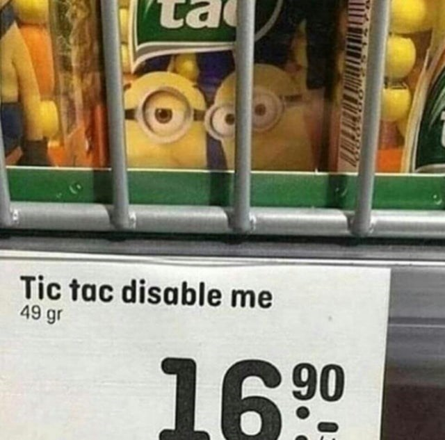 Grocery store - Tic tac disable me 49 g 1690