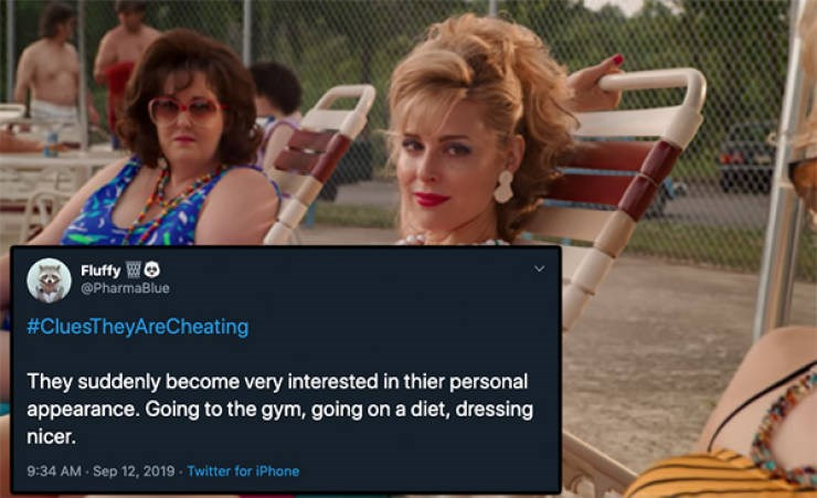 cheating clues tweets twitter