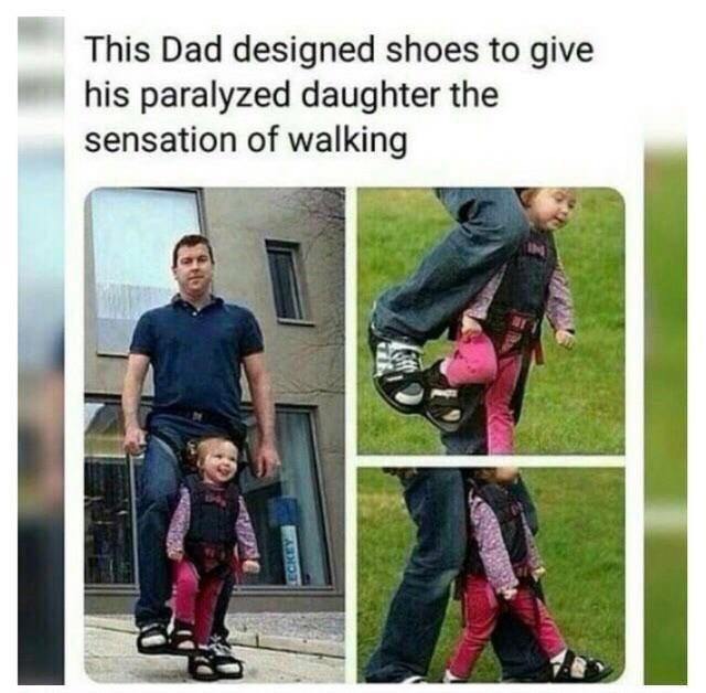 Product - This Dad designed shoes to give his paralyzed daughter the sensation of walking