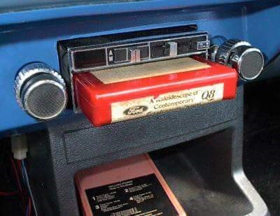 Picture of a tape in an old car