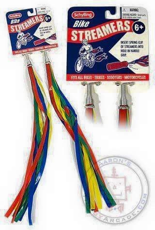 70s 80s nostalgia - Cable - Schylling Bike AAR Bike STREAMERS@ STREAMERS INSERT SPRING CL OF STREAMEAS INTD HOLE IN HANDLE RT ALL BIKE TRIKES scoOTERS MOTORCYCLES AAREN'S KARCADE CO