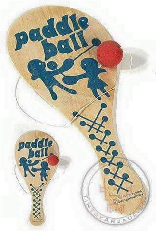 70s 80s nostalgia - Ping pong - paddle ball paddle ball u A IN