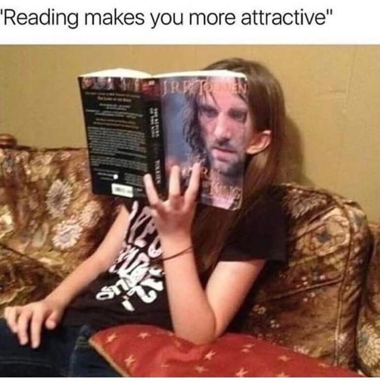 """Facial hair - 'Reading makes you more attractive"""""""