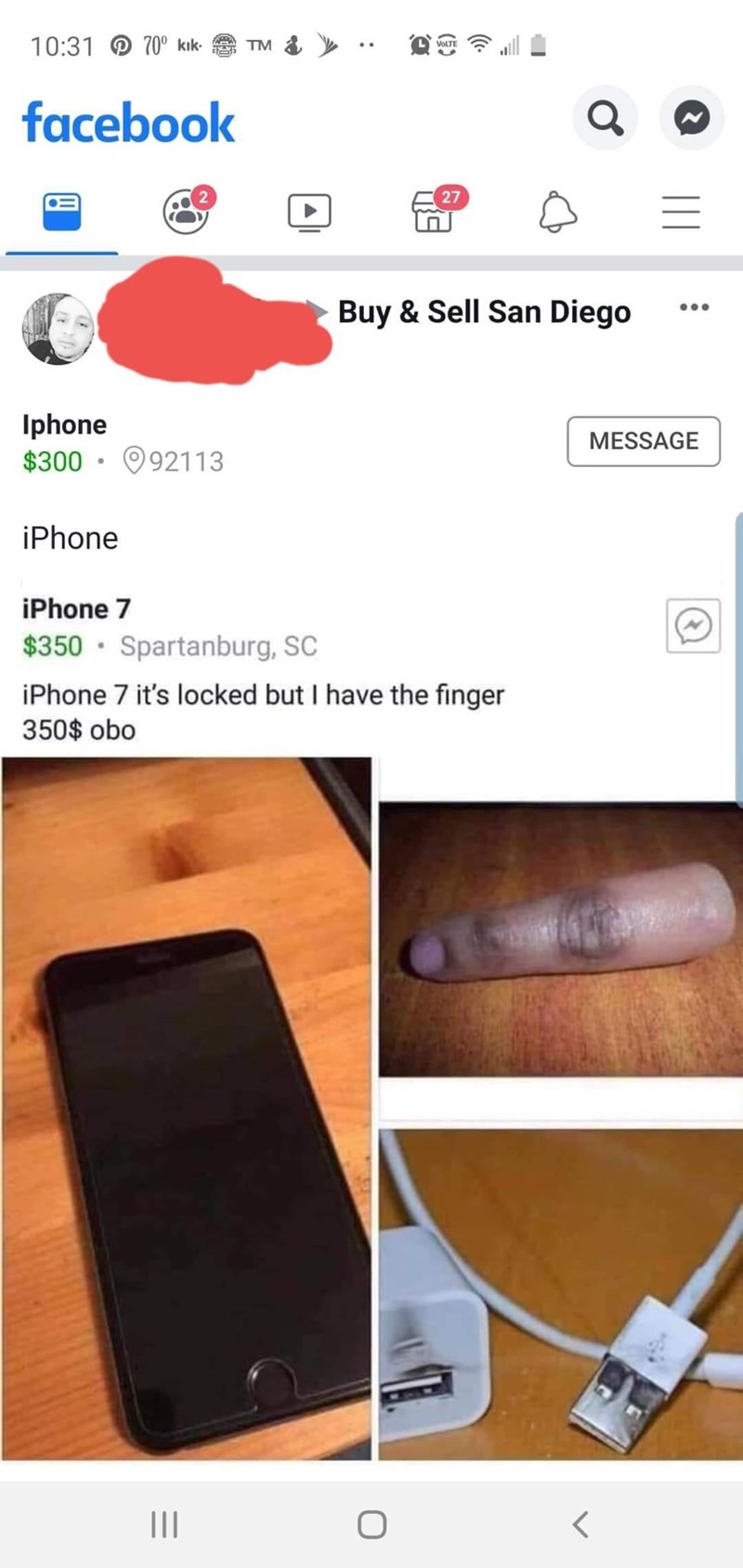 Material property - 10:31 70° kik TM VoLTE facebook 27 Buy & Sell San Diego Iphone $300 92113 MESSAGE iPhone iPhone 7 $350 Spartanburg, SC iPhone 7 it's locked but I have the finger 350$ obo 11 (.