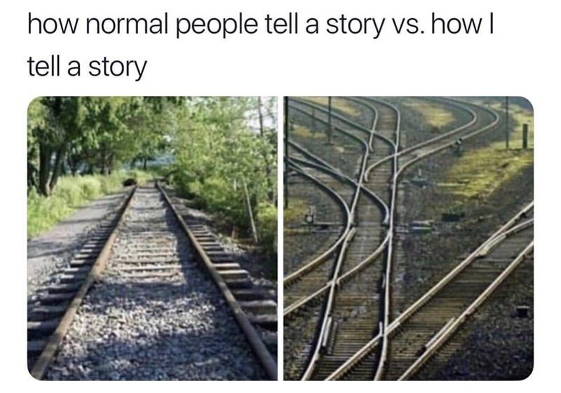 Transport - how normal people tell a story vs. how I tell a story