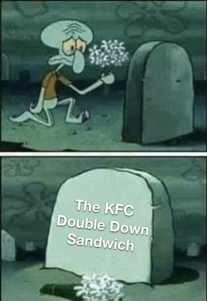 Cartoon - The KFC Double Down Sandwich