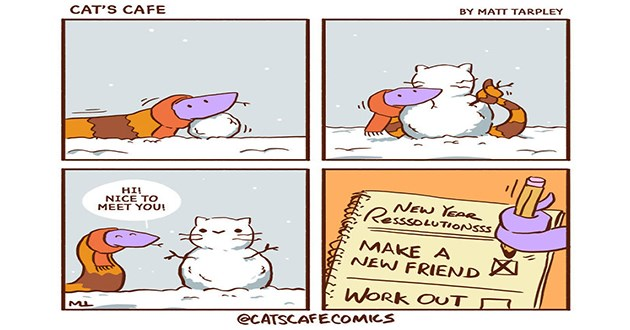 cat's cafe comics wholesome
