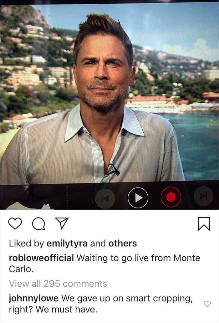 trolling - Sky - Liked by emilytyra and others robloweofficial Waiting to go live from Monte Carlo View all 295 comments johnnylowe We gave up on smart cropping, right? We must have.
