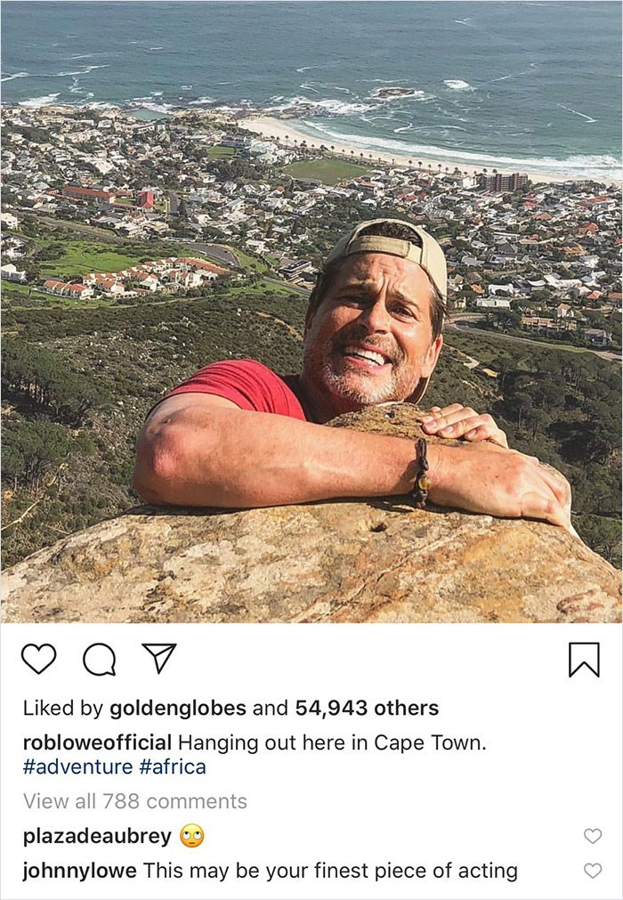trolling - Muscle - Liked by goldenglobes and 54,943 others robloweofficial Hanging out here in Cape Town. #adventure #africa View all 788 comments plazadeaubrey johnnylowe This may be your finest piece of acting