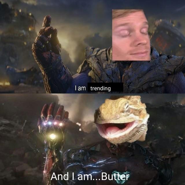Digital compositing - I am trending And I ám...Butter