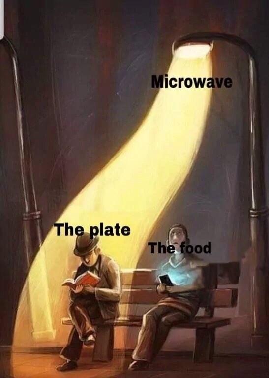 Lighting - Microwave The plate The food