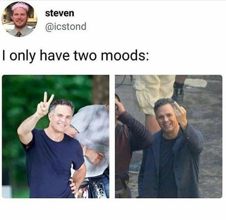 People - steven @icstond I only have two moods: