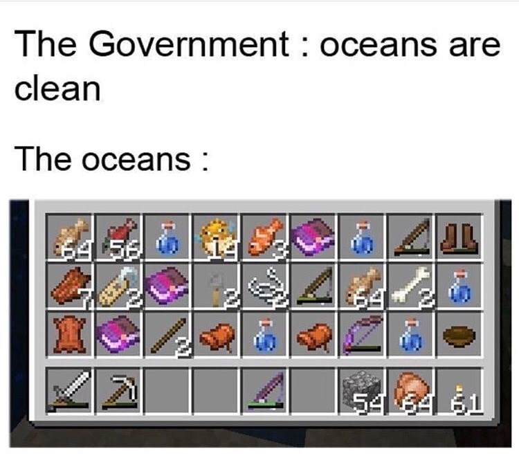 Text - The Government oceans are clean The oceans $45F www. $4 54 T