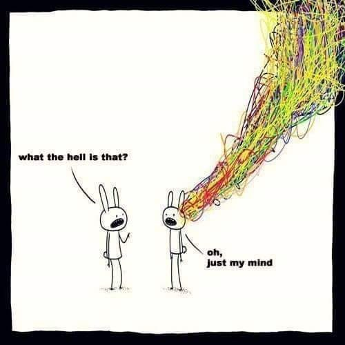 Text - what the hell is that? oh, Just my mind
