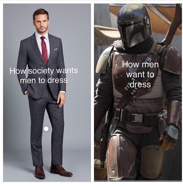 Suit - How men How society wants men to dress want to dress