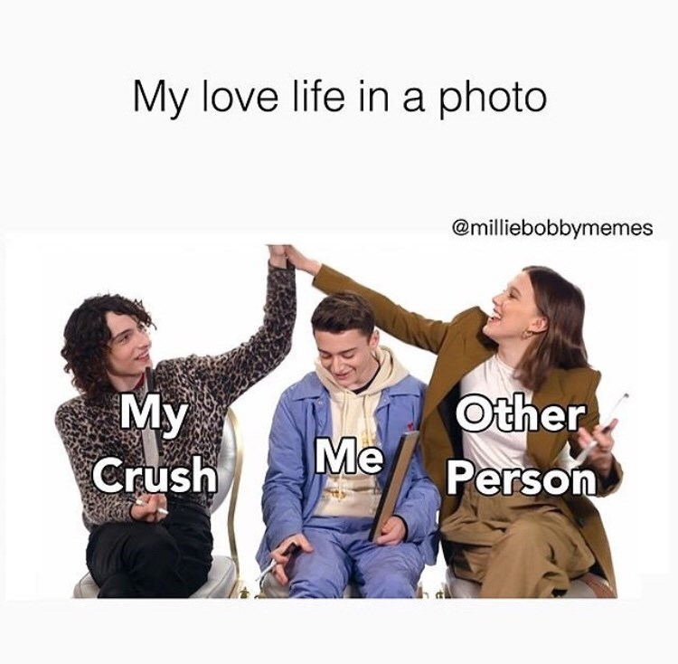 People - My love life in a photo @milliebobbymemes Other Му Crush Me Person