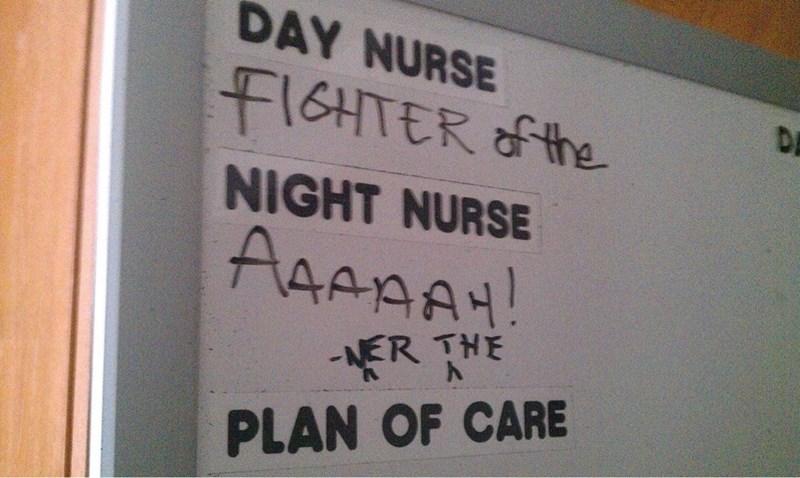 Text - DAY NURSE FIGHTER the DE NIGHT NURSE AAAAA ER THE PLAN OF CARE