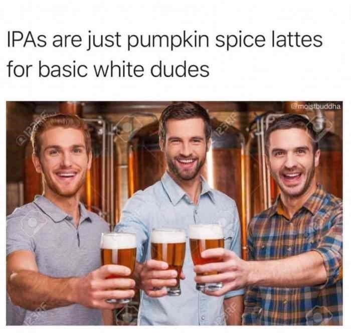 Product - IPAS are just pumpkin spice lattes for basic white dudes @moistbuddha ASWO