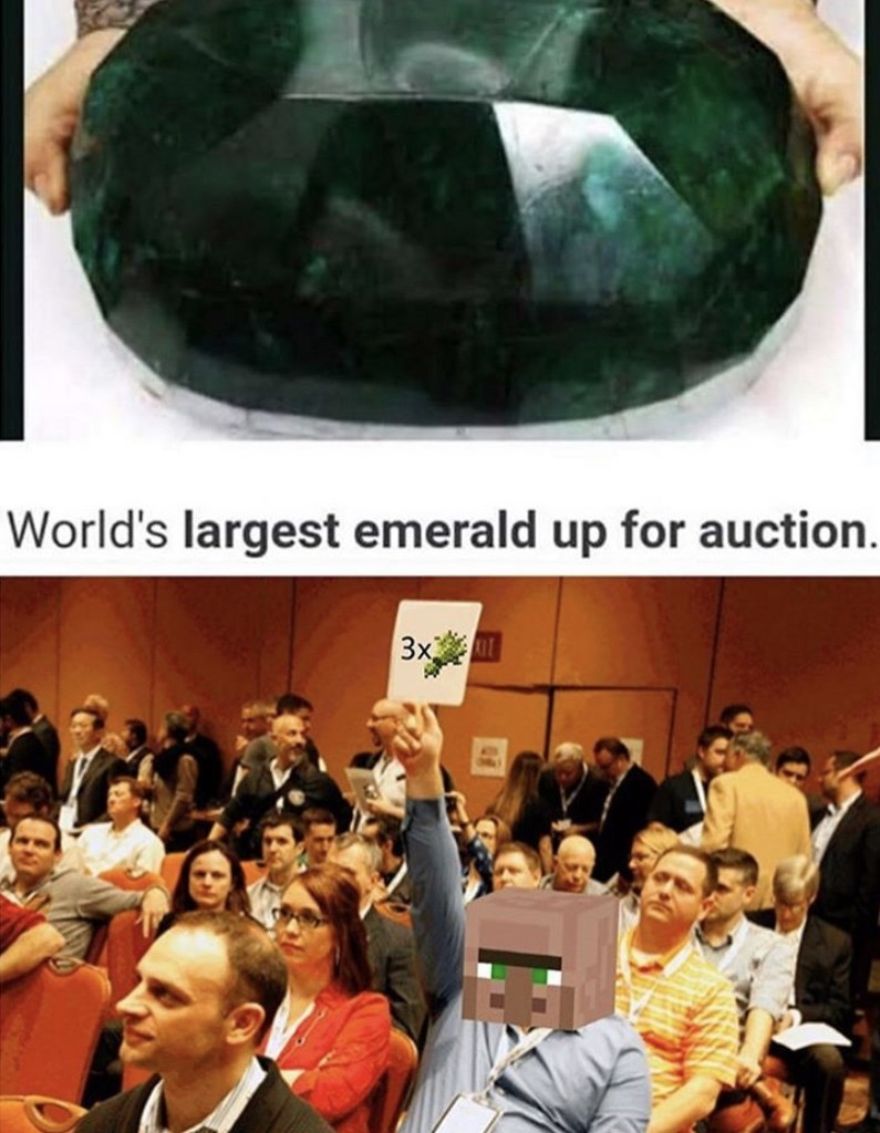 People - World's largest emerald up for auction. 3x UT
