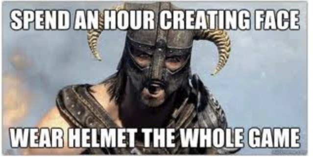 Photo caption - SPEND AN HOUR CREATING FACE WEAR HELMET THE WHOLE GAME