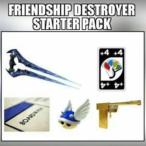 FRIENDSHIP DESTROYER STARTER PACK +4 +4 BOARDWAU