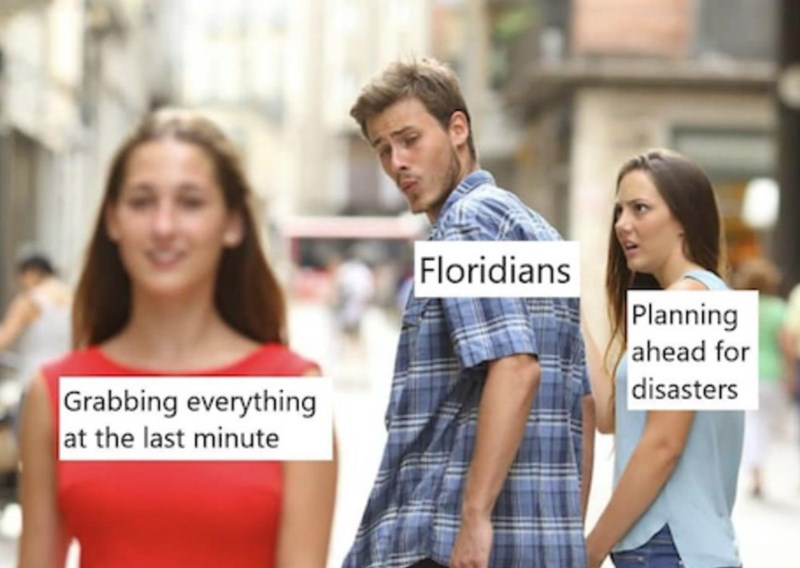 People - Floridians Planning ahead for |disasters Grabbing everything at the last minute