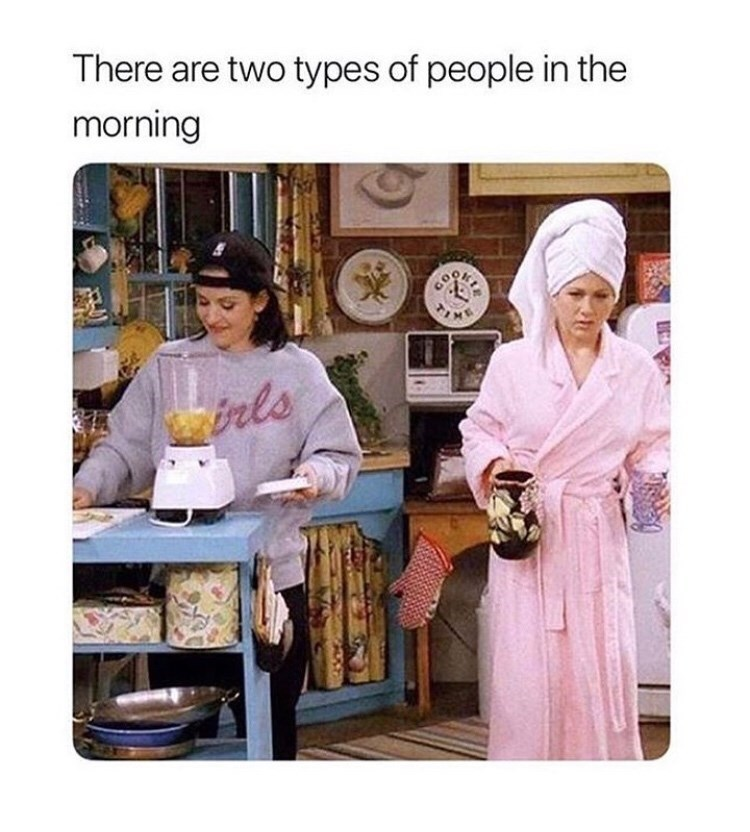 Cuisine - There are two types of people in the morning COOK brls