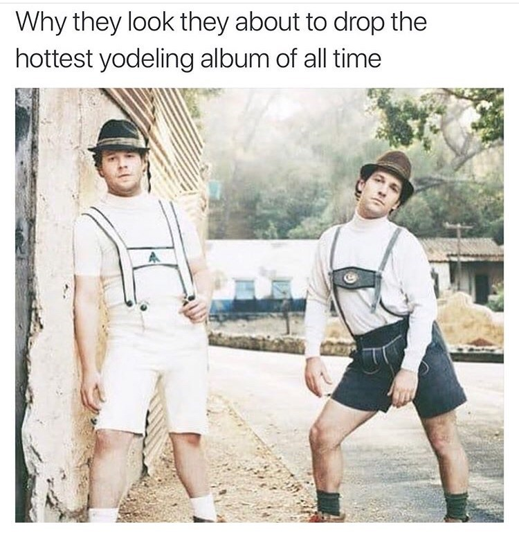 Product - Why they look they about to drop the hottest yodeling album of all time